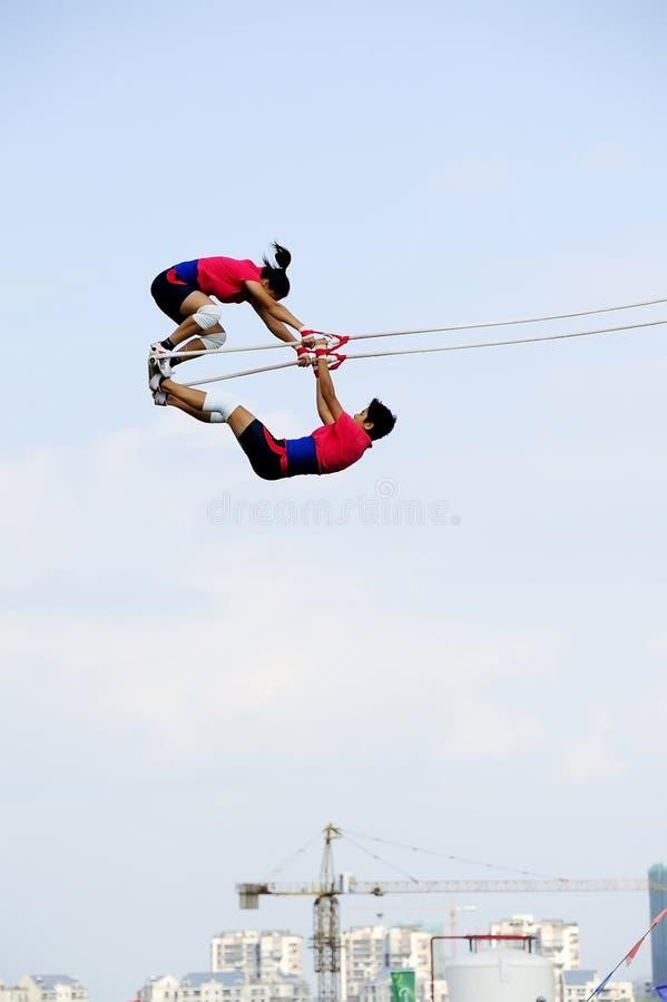 swing för lekmeetsportar royaltyfria foton