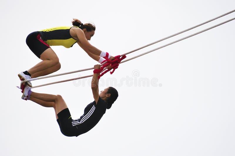 swing för lekmeetsportar arkivfoto
