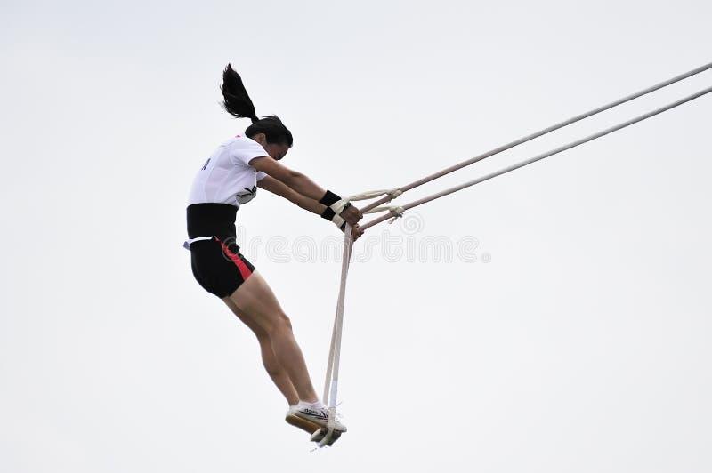 swing för lekmeetsportar fotografering för bildbyråer