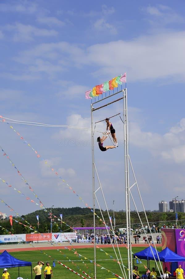 swing för lekmeetsportar arkivbild