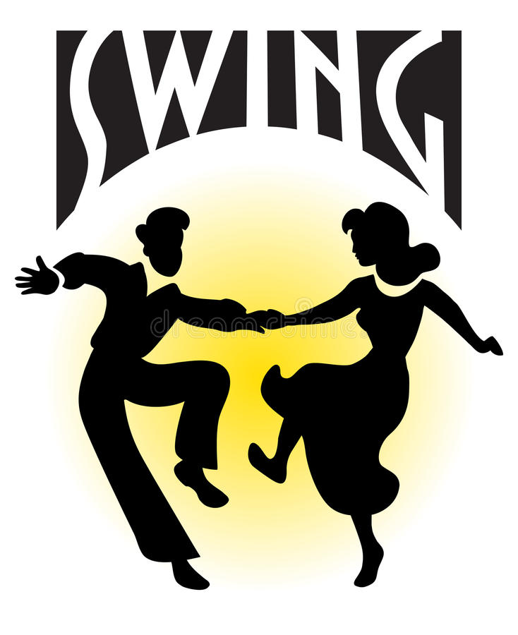 swing för pardanseps royaltyfri illustrationer