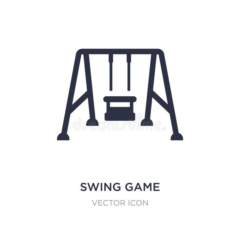 swing game icon on white background. Simple element illustration from Other concept stock illustration