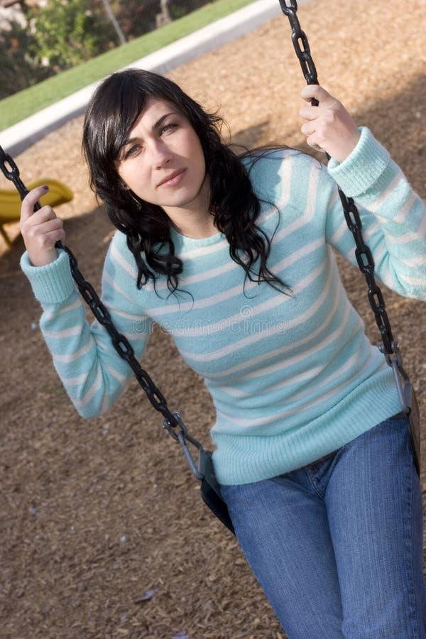 Swing Girl stock image