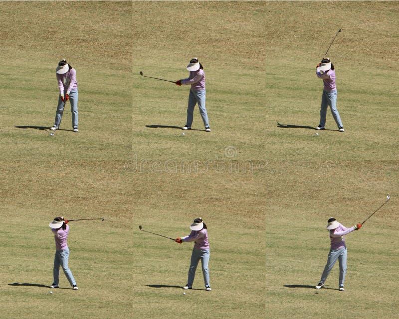 swing golfowa zdjęcia stock