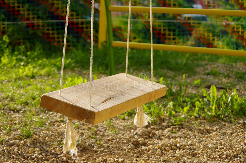Download Swing stock image. Image of playground, tree, outside - 32513787