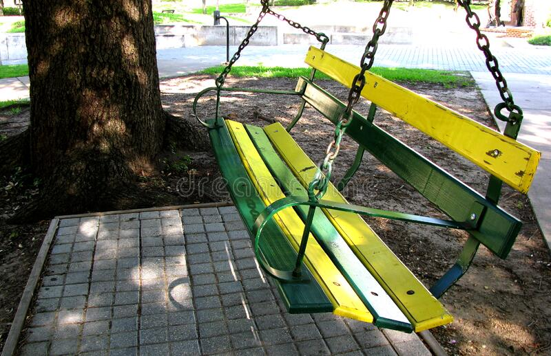 Swing My Green and Gold Afar royalty free stock image