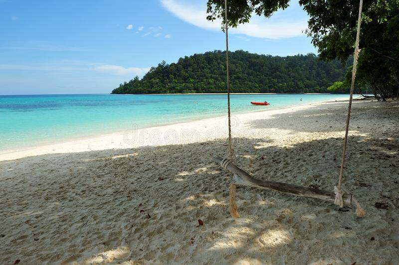 Swing on Rok Island royalty free stock photography