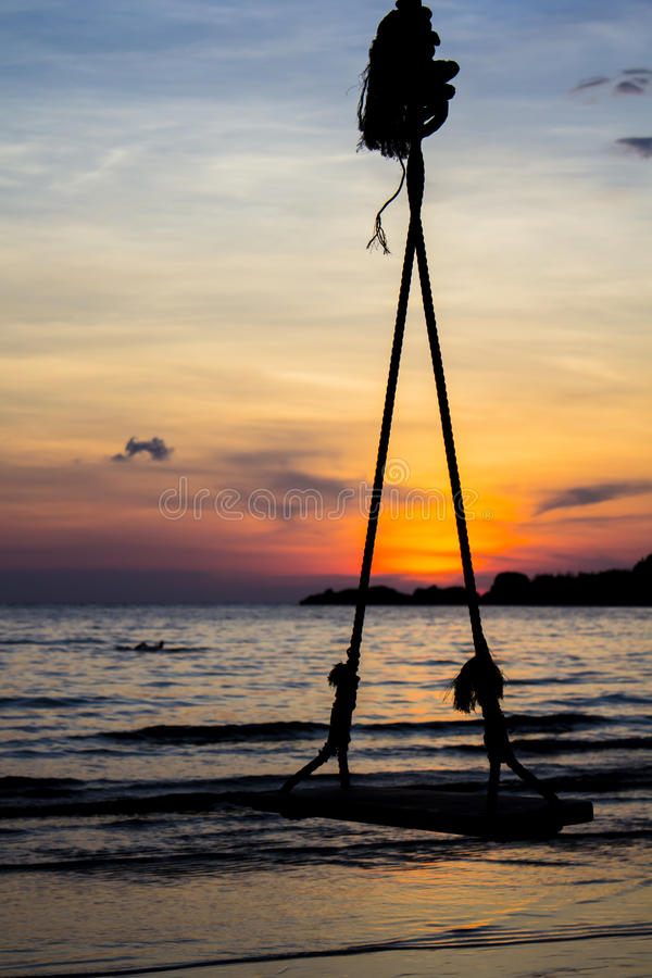 Swing in twilight royalty free stock photography