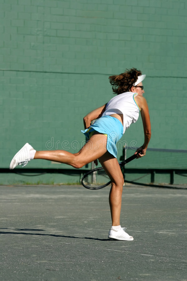 Download Swinging a racquet stock photo. Image of exercise, woman - 3154390