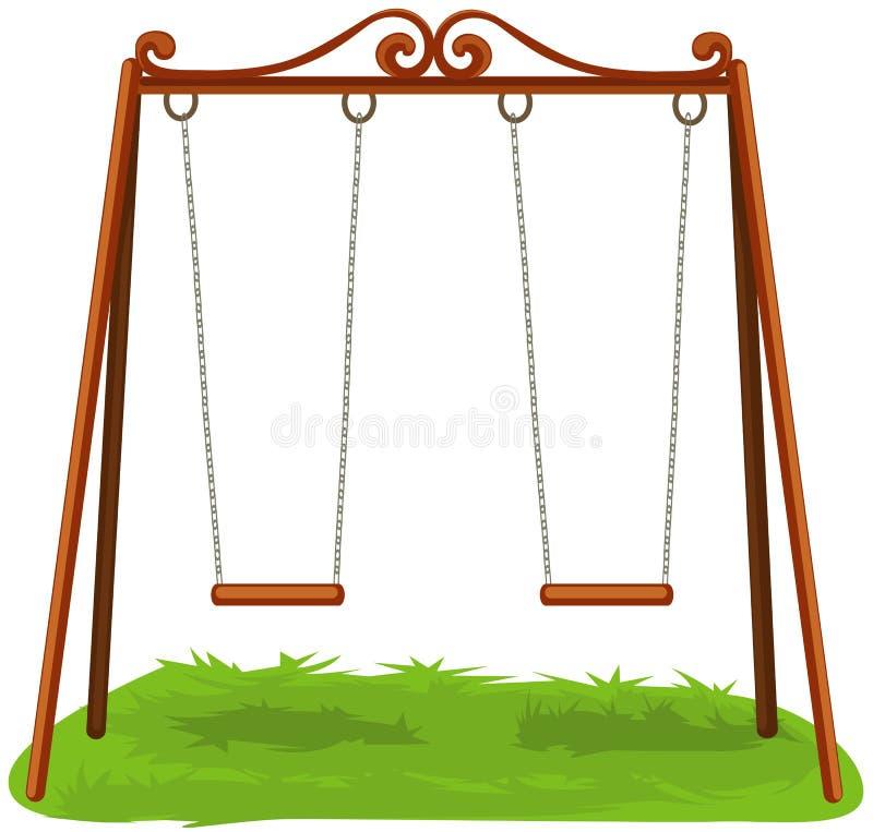 swings royaltyfri illustrationer