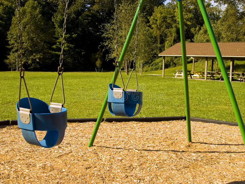 Download Swings stock photo. Image of children, safety, park, blue - 1418124