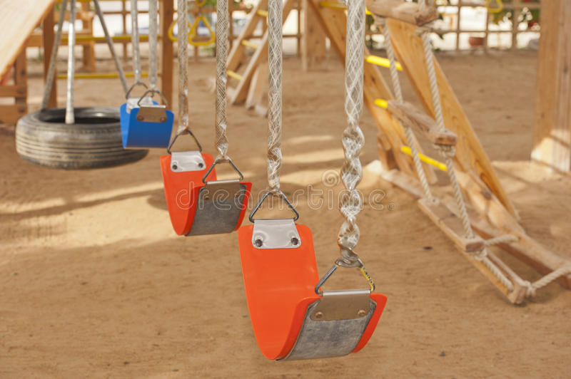 Download Swings In A Childrens Play Area Stock Image - Image: 22443971