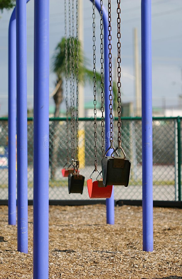 Download Swings in the City stock photo. Image of infant, playground - 45986