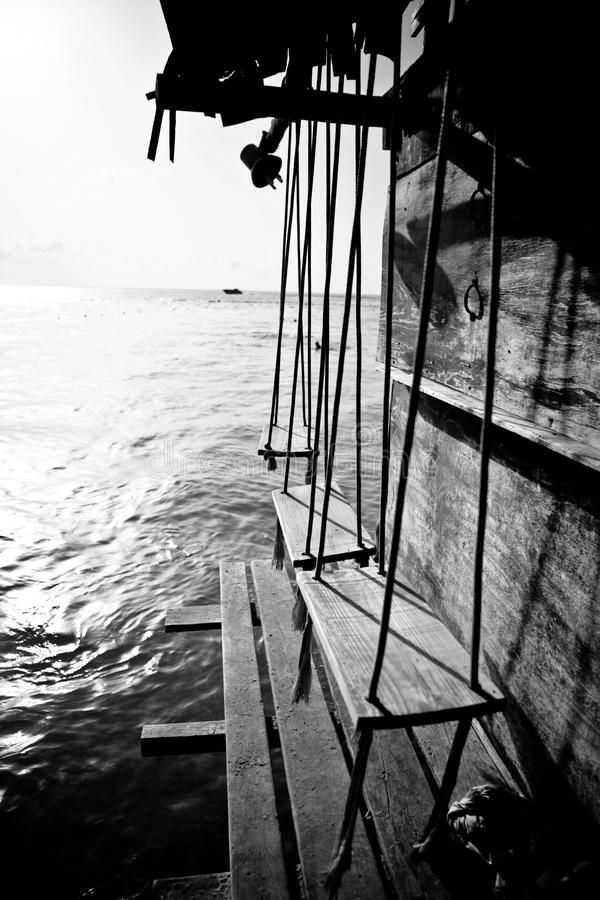 Download Swings by the ocean stock image. Image of balance, caribbean - 20910717