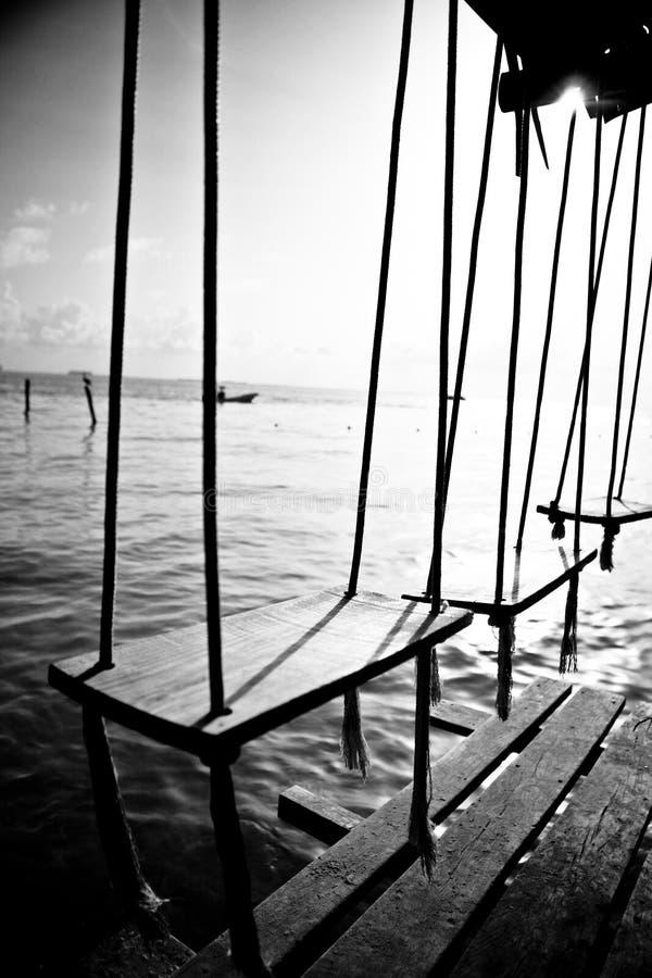 Swings by the ocean