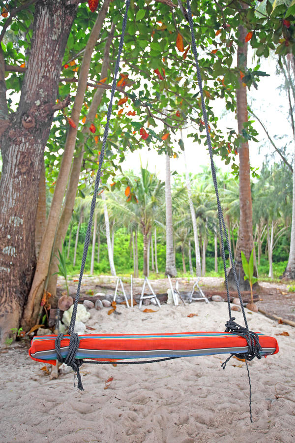 Download Swings And Palm On The Sand Royalty Free Stock Photo - Image: 33712405