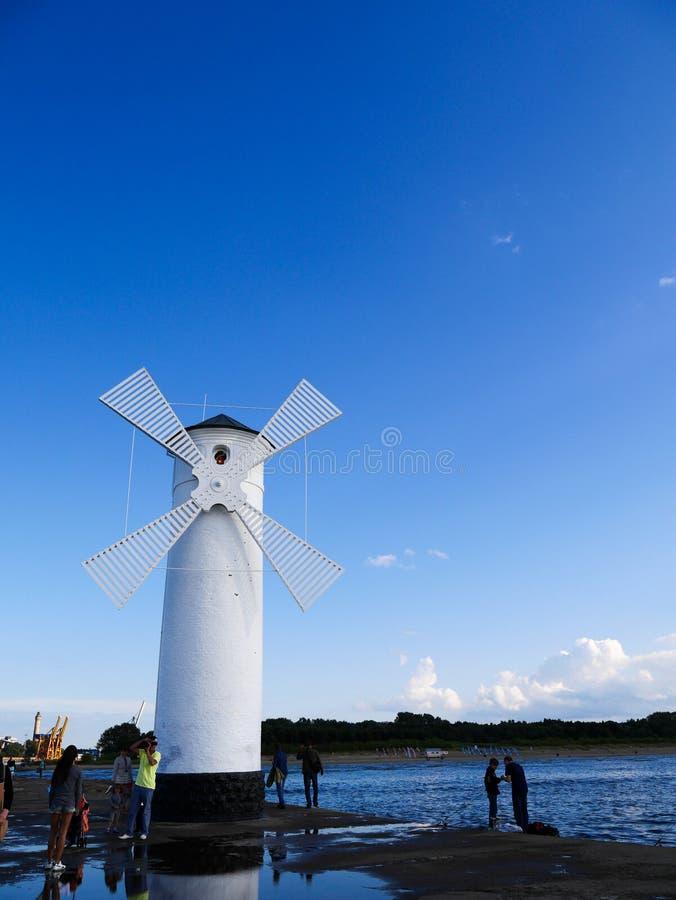 Swinoujscie del molino de viento fotos de archivo