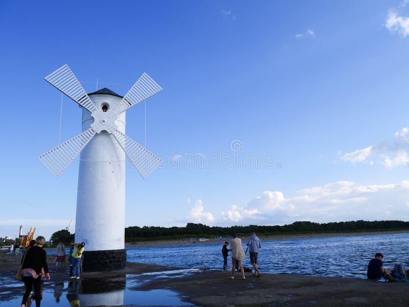 Swinoujscie del molino de viento imágenes de archivo libres de regalías