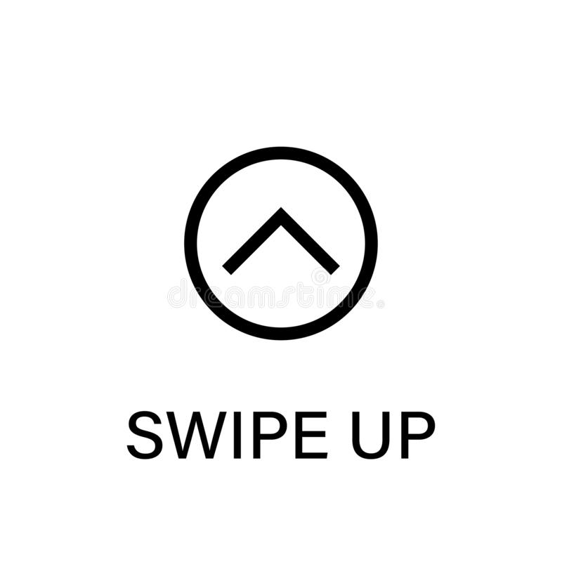 Swipe Up Vector Isolated Black Icon Black Swipe Up Vector Pointer Arrow Line Graphic Design Swipe Action Symbol Stock Illustration Illustration Of Click Modern 166200930