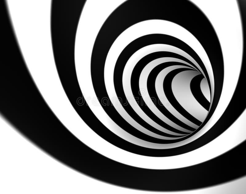 swirl 3d vektor illustrationer