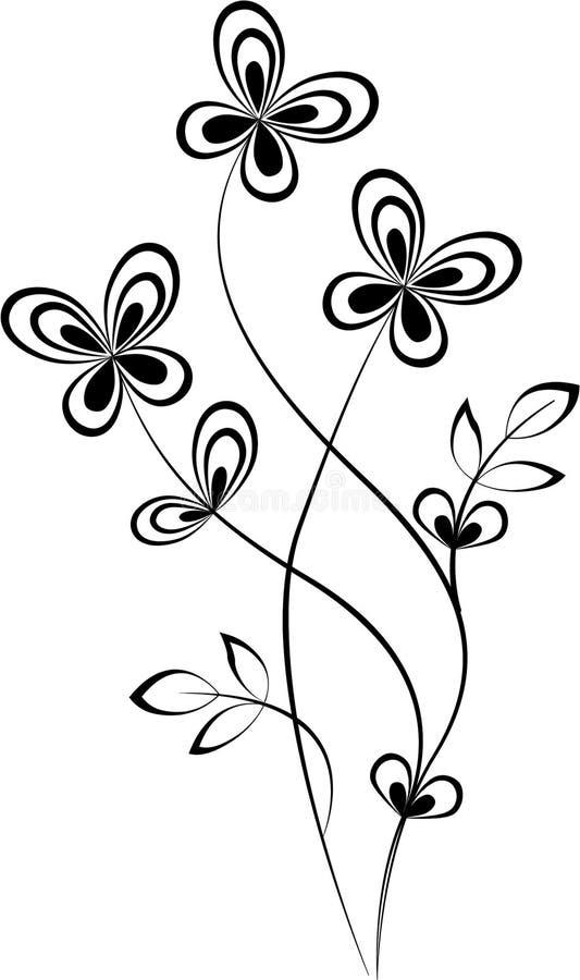 Swirl. Black Swirl shape isolated on white background royalty free illustration