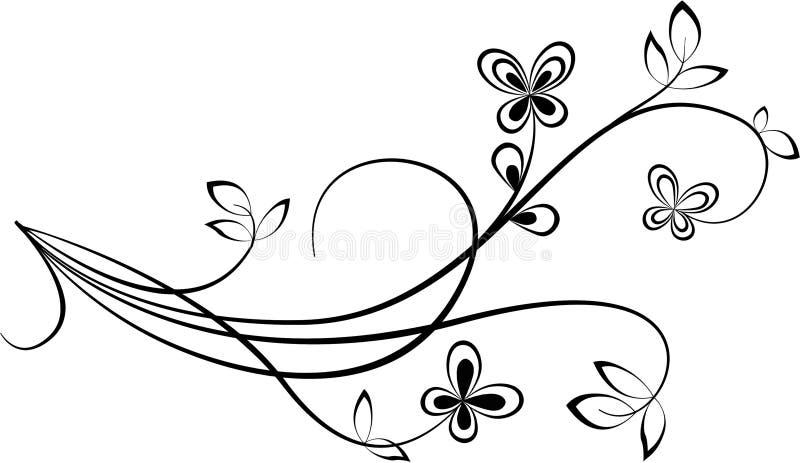 Swirl. Black Swirl shape isolated on white background vector illustration