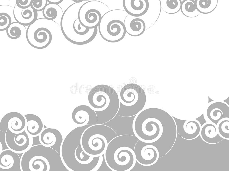 Swirl background. Abstract background of swirl curls stock illustration