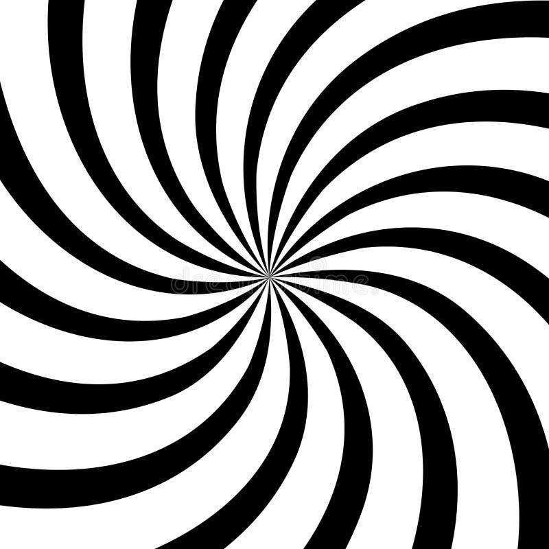 Swirl background, monochrome poster design template, vector illustration stock illustration
