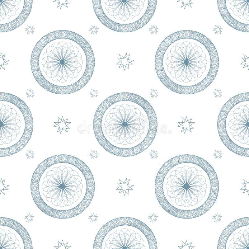 Swirl Blue Repeat Stock Photography