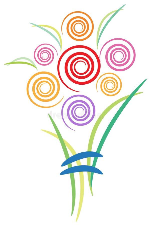 Swirl bouquet. Isolated brush stroke illustrated swirl bouquet design vector illustration