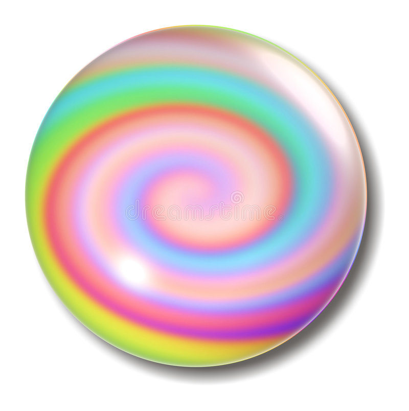 Swirl Button Orb royalty free illustration
