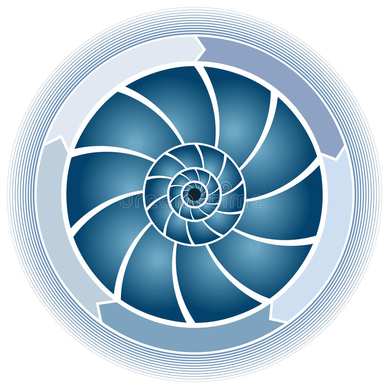 Swirl Circle Chart. An image of a swirl circle chart stock illustration