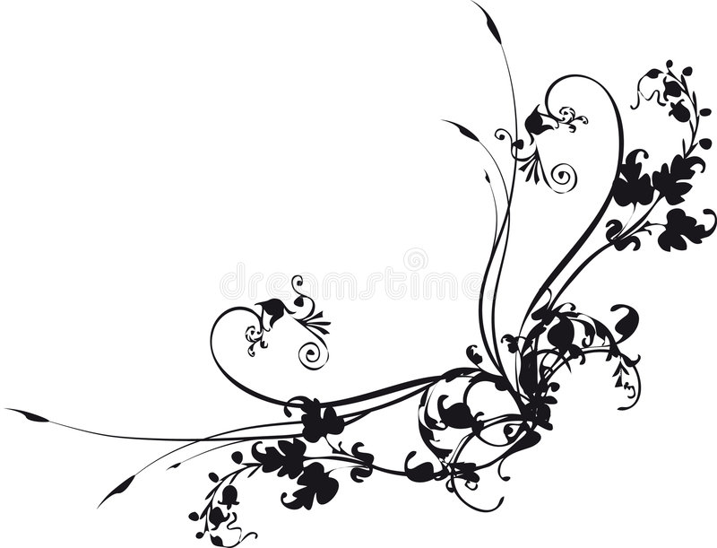 Swirl_corner illustration stock
