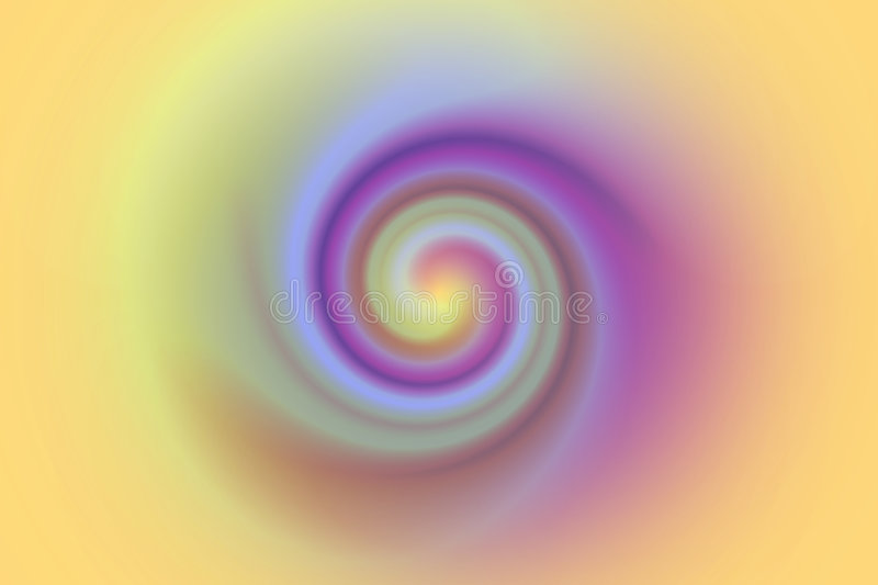 Swirl or curl in pastel colors royalty free illustration