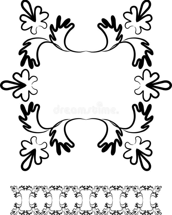 Swirl design frame and border royalty free illustration