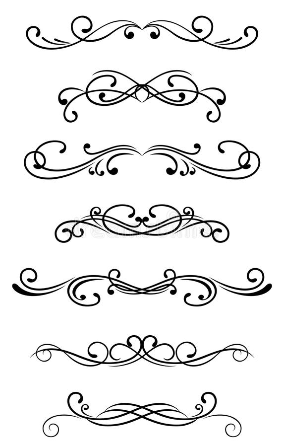 Download Swirl elements stock vector. Illustration of filigree - 18094545