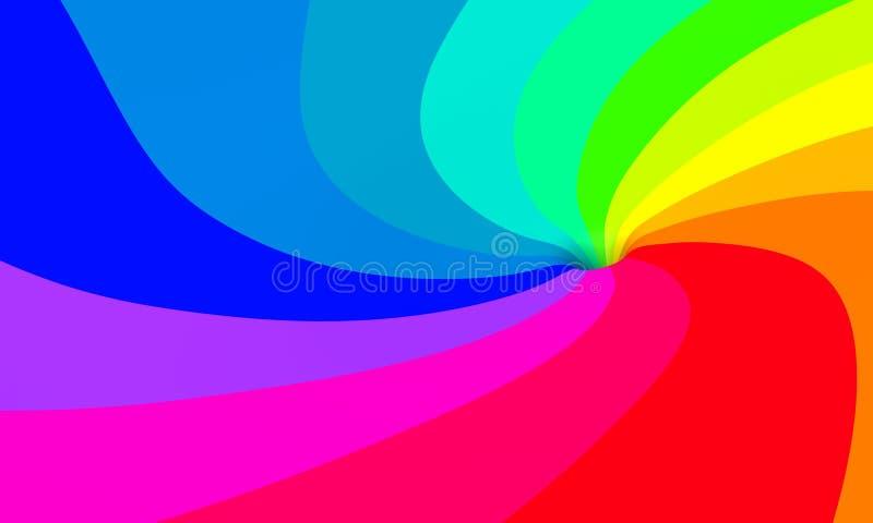 swirl för 01 regnbåge vektor illustrationer