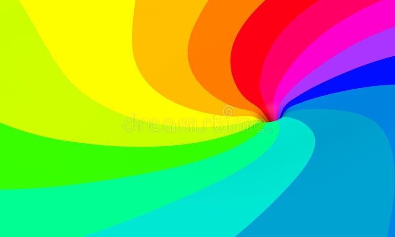 swirl för 02 regnbåge vektor illustrationer