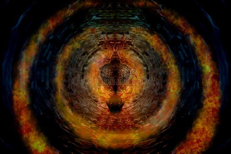 Swirl flame. royalty free illustration
