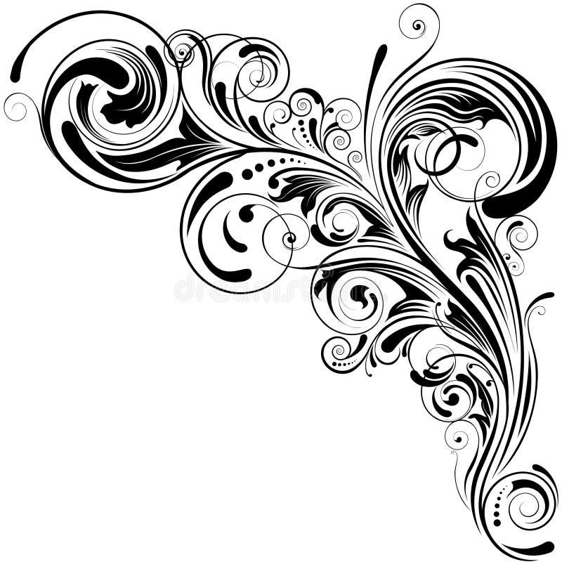 Swirl floral design stock illustration