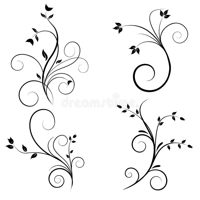 Download Swirl flourishes stock vector. Image of drawing, creative - 8757797