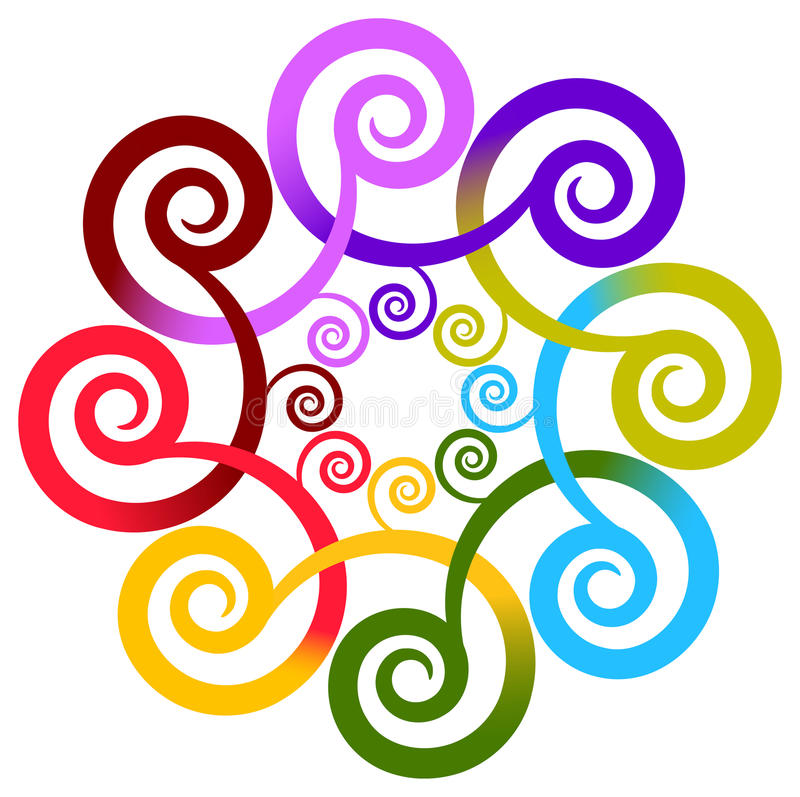 Swirl flower royalty free illustration