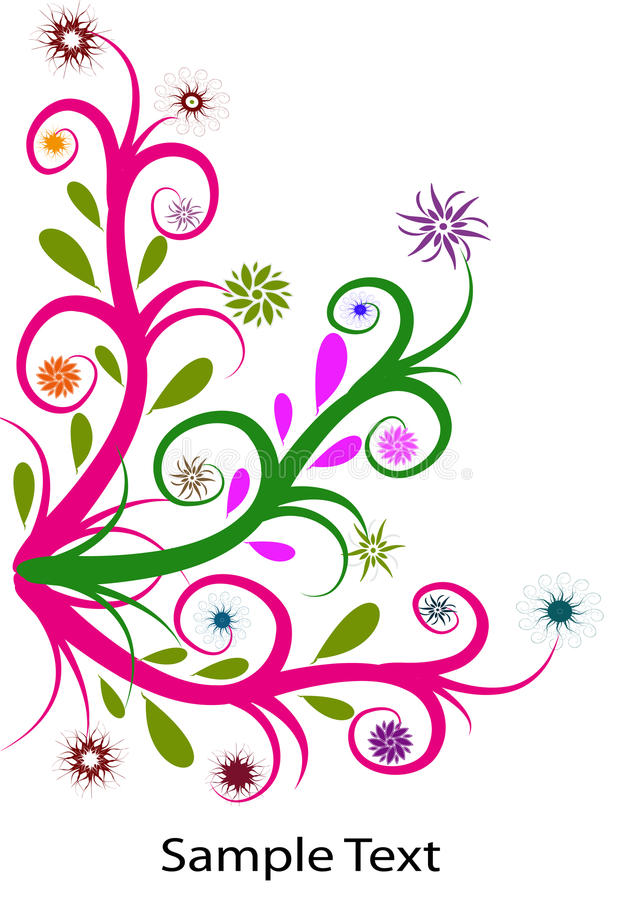 Swirl.flower stock de ilustración
