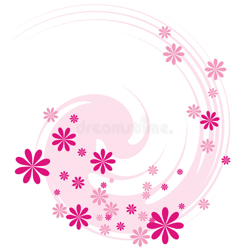 Swirl With Flowers Stock Image