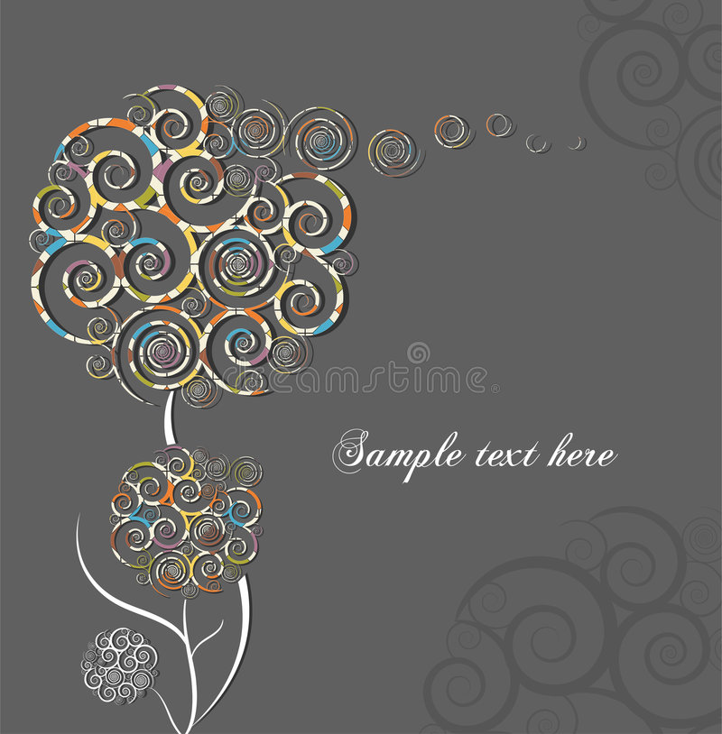 Download Swirl flowers stock vector. Image of natural, design, flying - 9205979