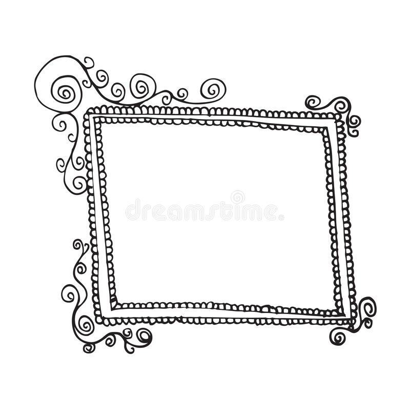 Download Swirl frame 1 stock illustration. Illustration of grunge - 25227778