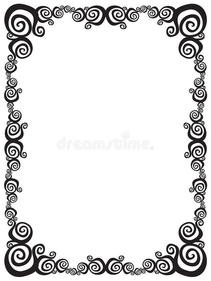 Download Swirl frame stock vector. Illustration of graphic, creativity - 11143439