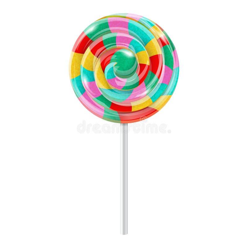 Swirl lollipop royalty free illustration