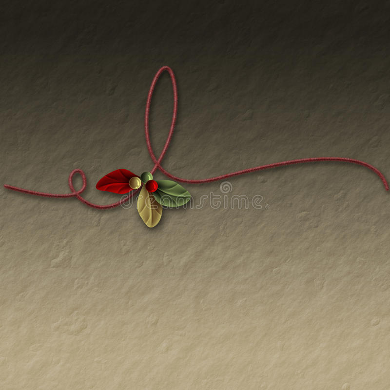 Swirl and Mistletoe. Mistletoe with swirl on the crumpled background royalty free illustration