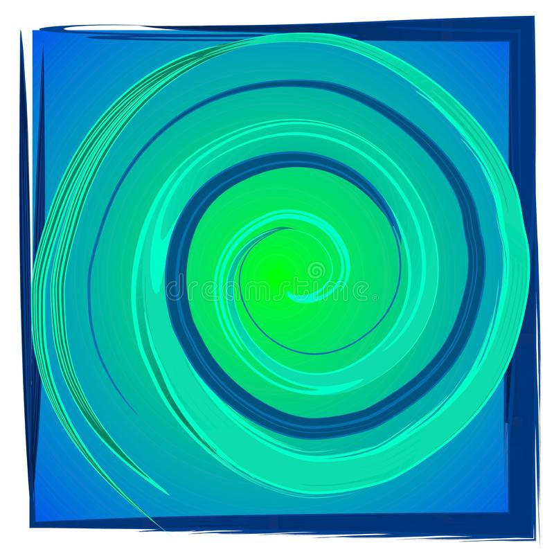 Swirl Spiral Tile - Blue Green stock photography